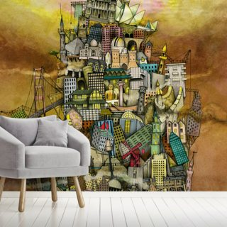 Around The World Wallpaper Wall Murals