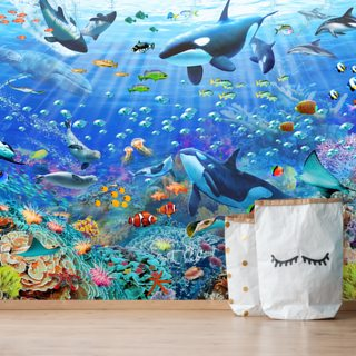 Underwater Scenery Wallpaper Wall Murals