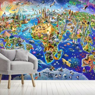 Crazy World Wallpaper Wall Murals