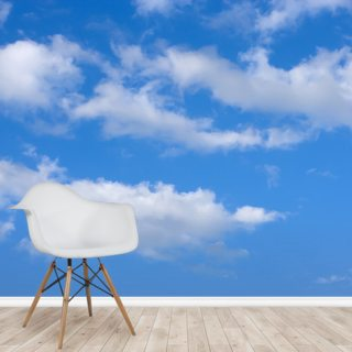 Blue Skies with Clouds Wallpaper Wall Murals