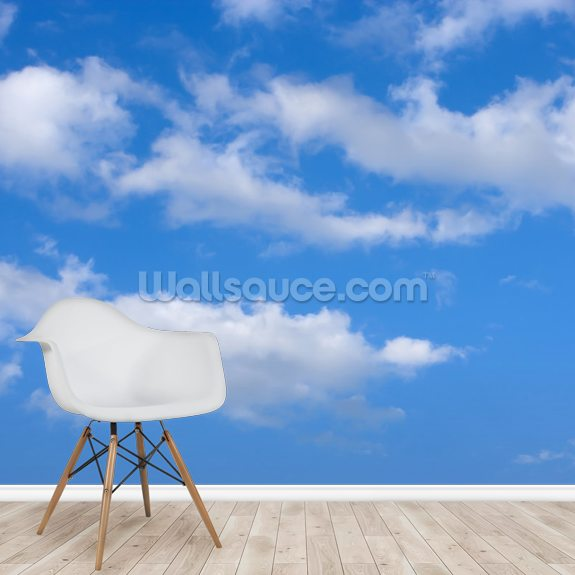 Blue Skies With Clouds Wallpaper Mural Wallsauce Us