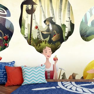 Fairy Tale Princesses Wallpaper Wall Murals
