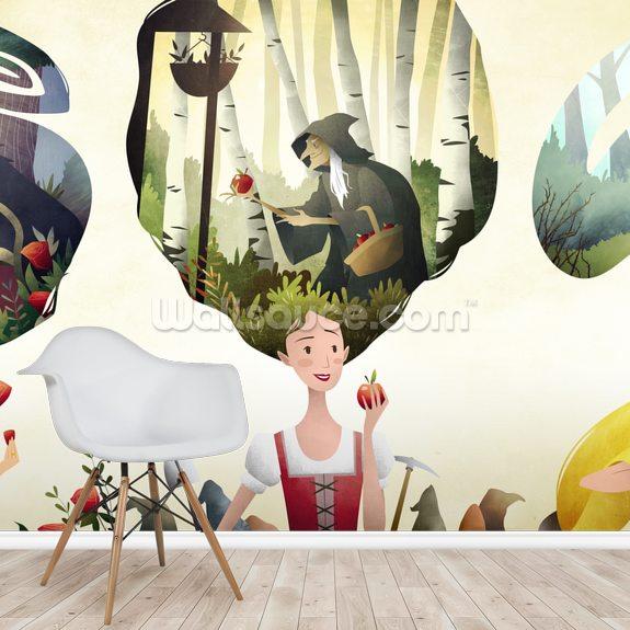 Fairy Tale Princesses Wallpaper Mural Room Setting
