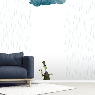 Looks Like Rain Wallpaper Wall Murals