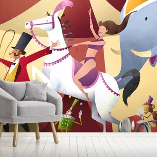 The Circus Wallpaper Wall Murals