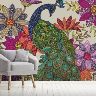 Peacock Puzzle Wallpaper Wall Murals