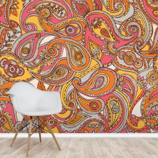 Spring Paisley Wallpaper Wall Murals