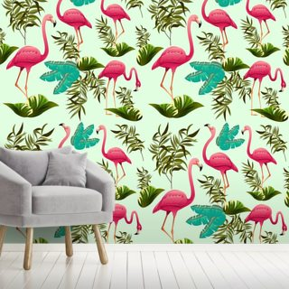Pink Flamingo Pattern