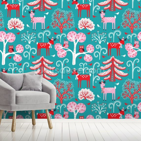 Happy In Winter Wallpaper Mural
