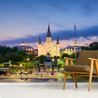 Jackson Square at Night Wallpaper Wall Murals