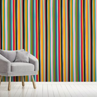 Coloured Lines Wallpaper Wall Murals