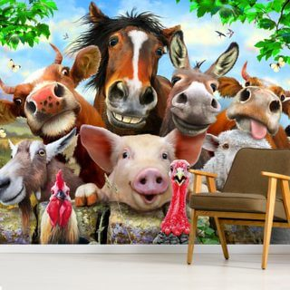 Farm Selfie Wallpaper Wall Murals