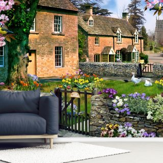 Tulip Cottage Wallpaper Wall Murals