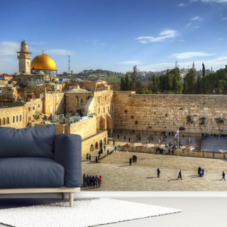 The Wailing Wall and Dome of the Rock, Jerusalem