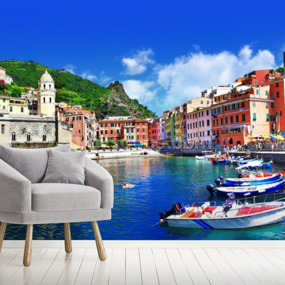 vernazza, italy wallpaper mural wallsauce usvernazza, italy mural wallpaper room setting