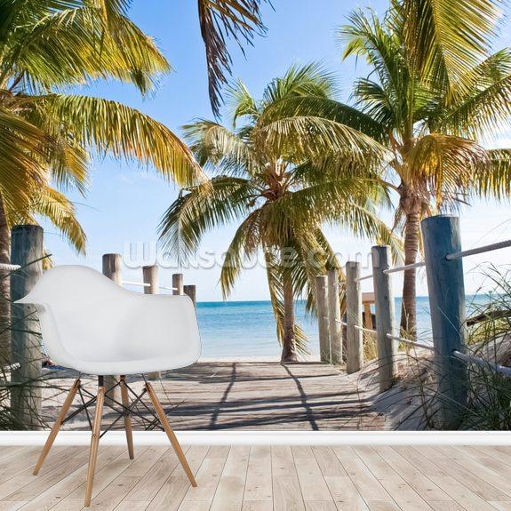 Key West Boardwalk To The Beach