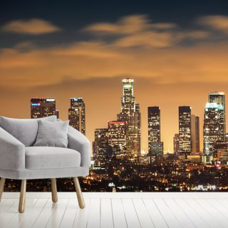Los Angeles Skyline Sunset Wallpaper Wall Murals