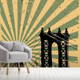 Retro Wallpaper Wall Murals Wallsauce De
