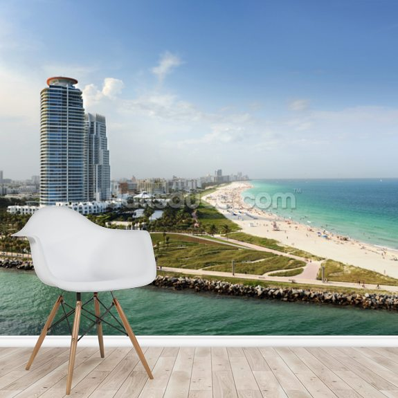 Miami Beach Florida Wall Mural Room Setting