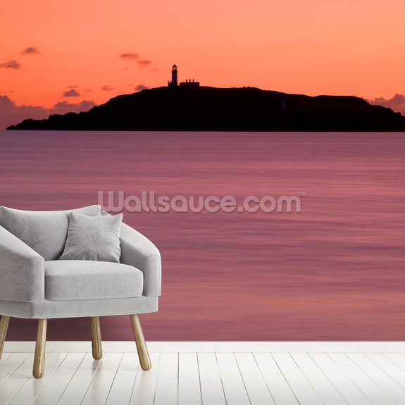 Lighthouse and Island wall mural room setting