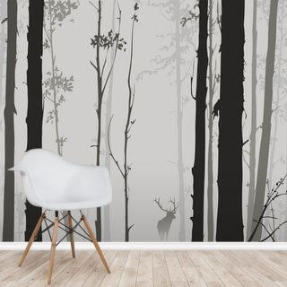 Forest Silhouette Wallpaper Wall Murals