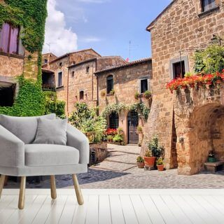 Italian Old Town Wallpaper Wall Murals