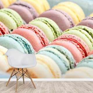 Fresh Pastel Colored Macarons