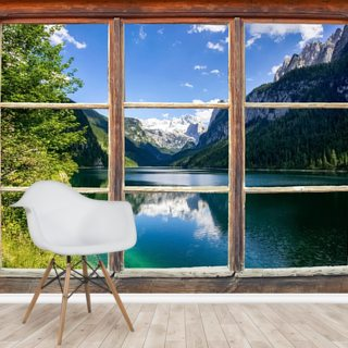 Lake and Mountain View Window