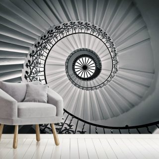 The Tulip Staircase, Greenwich Wallpaper Wall Murals