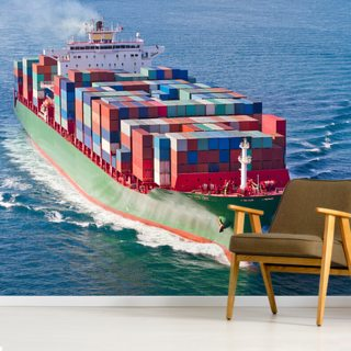 Container Ship Wallpaper Wall Murals