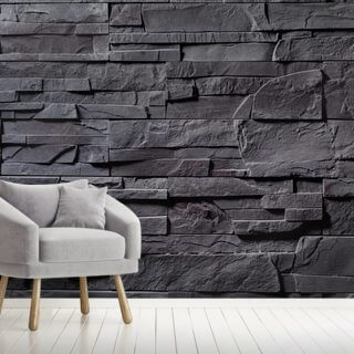 Stone Wall - Charcoal Grey