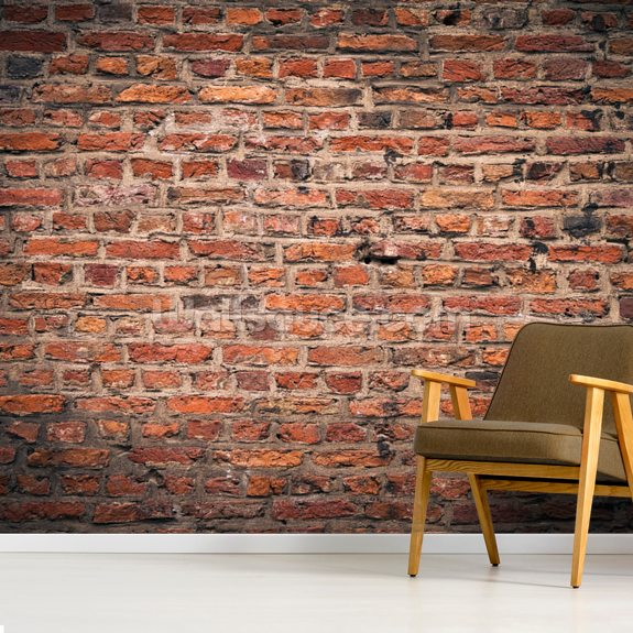 Brick Wall wallpaper mural room setting