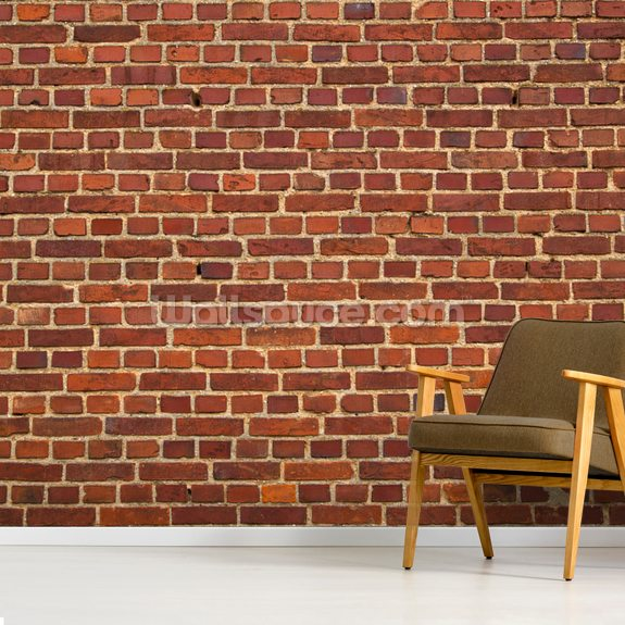 Distressed Brick Wall mural wallpaper room setting