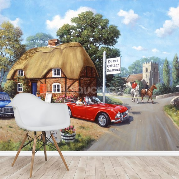 A Stop for Tea wall mural room setting