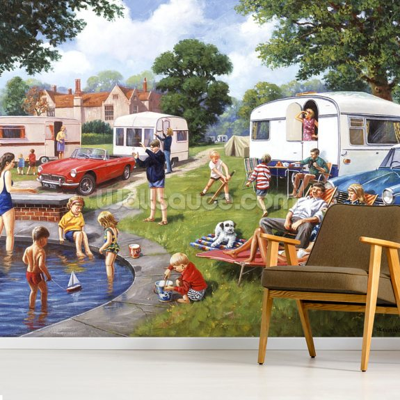 Caravan Holidays wall mural room setting
