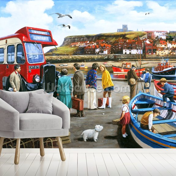 Happy Days in Whitby wall mural room setting