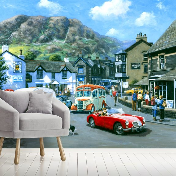 Happy Days Lake District mural wallpaper room setting