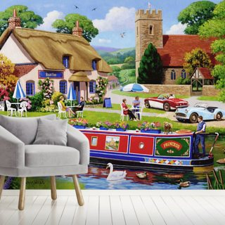 Boat Inn Wallpaper Wall Murals