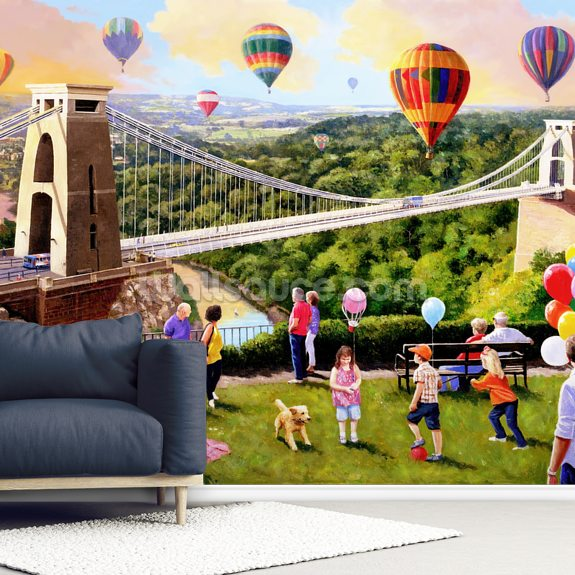 Balloons Over Bristol wall mural room setting
