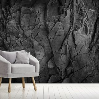 Dark Grey Slate Wallpaper Wall Murals
