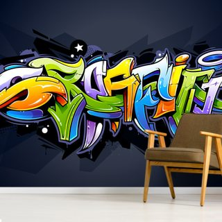 Graffiti in Colour Wallpaper