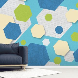 Hexagon Blue Green