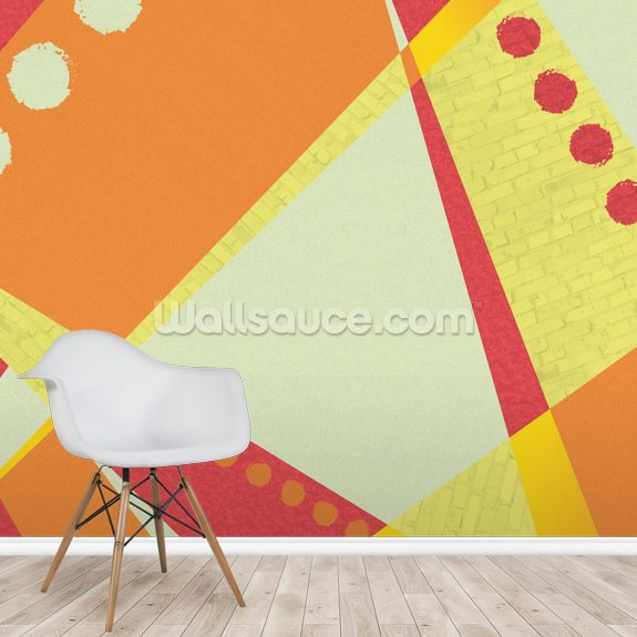 Sunset wall mural room setting
