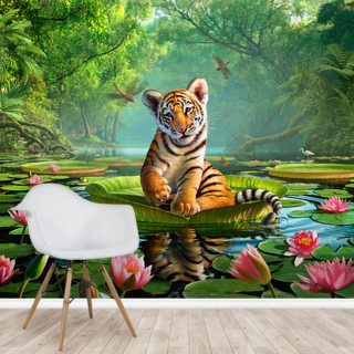 Tiger Lily Wallpaper Wall Murals