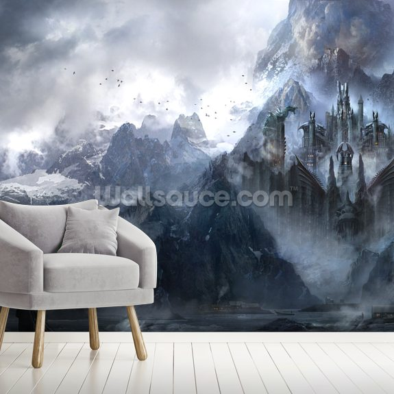 Dragonstone mural wallpaper room setting