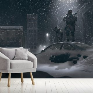 Winter Patrol Wallpaper Wall Murals