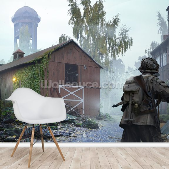 Snipers Nest mural wallpaper room setting