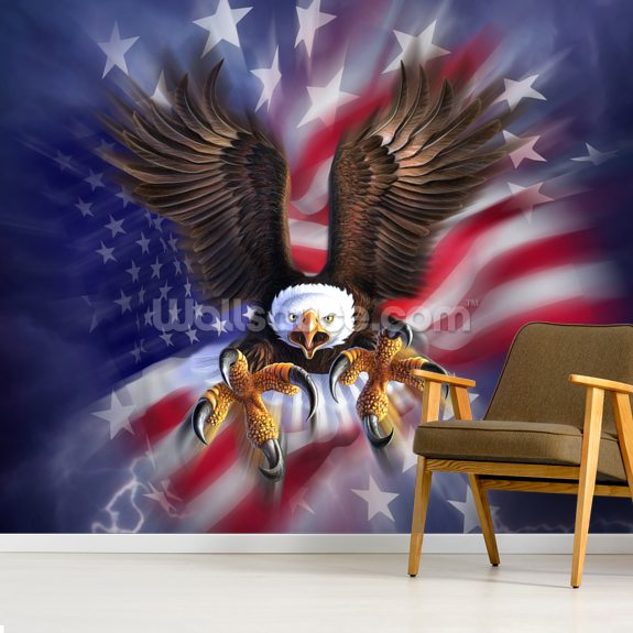 Eagle 2 wall mural room setting