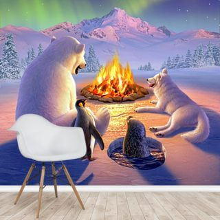 Polar Pals Wallpaper Wall Murals