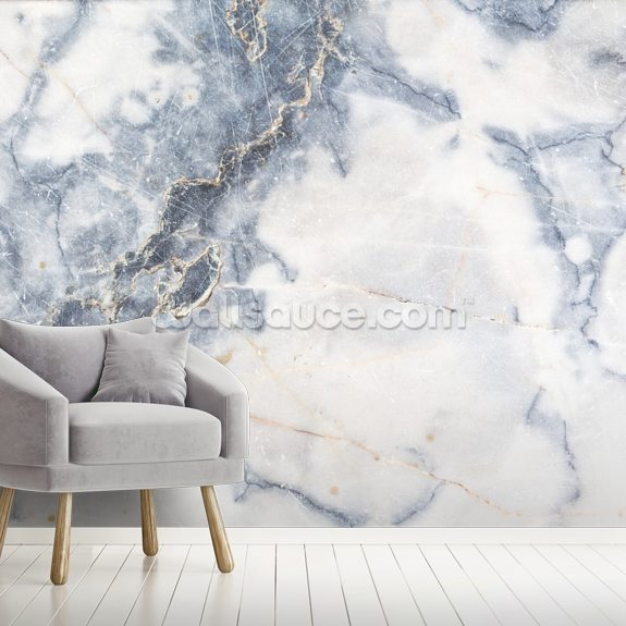 White Marble mural wallpaper room setting